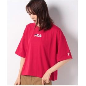 DAISY MERRY FILAロゴ刺繍ショート丈ワイドTシャツ(レッド)