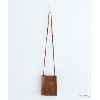 (merlot/メルロー)【plus】編み紐ショルダーミニバック/レディース ブラウン