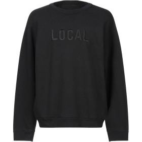 《期間限定セール開催中!》LOCAL AUTHORITY メンズ スウェットシャツ ブラック M コットン 50% / ポリエステル 50%