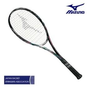 ミズノ スカッド05-C ハイブリッドブラック/ネオンマゼンタ 00X 0U 1U 63JTN85664 ソフトテニス ラケット 前衛特化型