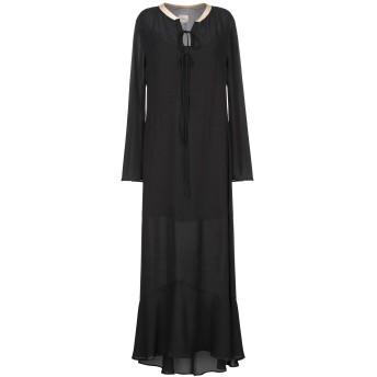 《9/20まで! 限定セール開催中》,MERCI レディース ロングワンピース&ドレス ブラック 38 ポリエステル 100%