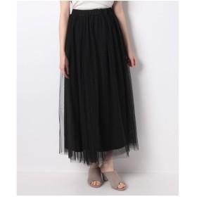 Ranan ロングチュールスカート(ブラック)