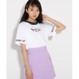 (PINK latte (Teen)/ピンク ラテ(ティーン))恐竜 Tシャツ/レディース オフホワイト(003)