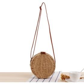 ミニショルダーバッグ ストローバッグ カゴバッグ 籠バッグ シンプル ナチュラル 編みバッグ 夏 ビーチバッグ 110