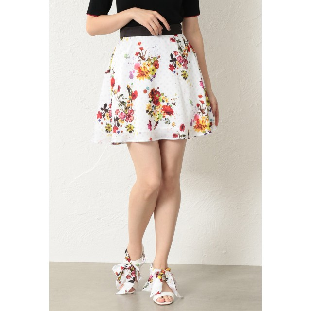 LOVELESS×nowartt コラボ モノグラムフレアスカート