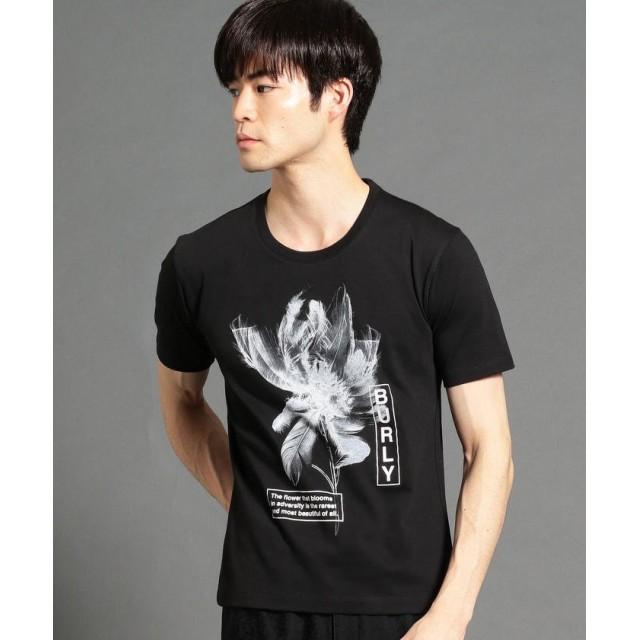 ニコルクラブフォーメン フェザープリントTシャツ メンズ 49ブラック 50(LL) 【NICOLE CLUB FOR MEN】