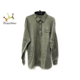 ダックス DAKS 長袖ポロシャツ サイズLL レディース 美品 ライトグリーン×マルチ   スペシャル特価 20190912