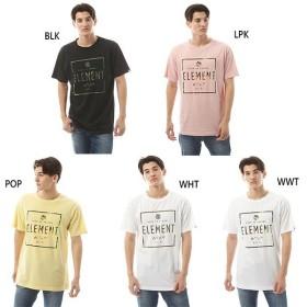 エレメント メンズ スクエア ロゴ ショートスリーブ SQUARE LOGO SS Tシャツ 半袖Tシャツ トップス AJ021218