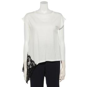 50%OFF OSMOSIS (オズモーシス) アシンメトリーTシャツ WHITE