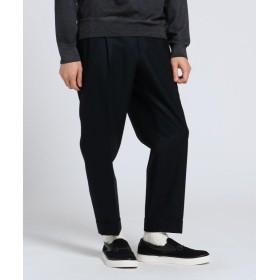 【50%OFF】 タケオキクチ フランネルテーパードパンツ Fabric by Vitale Barberis CANONICO[ メンズ パンツ ] メンズ ブラック(019) 03(L) 【TAKEO KIKUCHI】 【セール開催中】