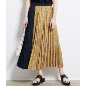 ロングスカート - ROPE' PICNIC 【WEB限定】フラワー切替プリーツスカート