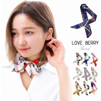 スカーフ レディース ネクタイ リボン ミニスカーフ ヘアバンド アンティーク柄 鞄 持ち手 オフィス 大人 エレガント 韓国ファッション