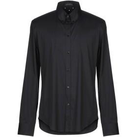 《期間限定 セール開催中》VERSACE メンズ シャツ ブラック 41 コットン 76% / ナイロン 19% / ポリウレタン 5%