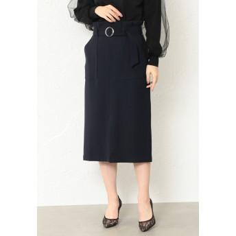 LOVELESS 【GUILD PRIME】WOMEN ハイウエストタイトスカート その他 スカート,ネイビー2