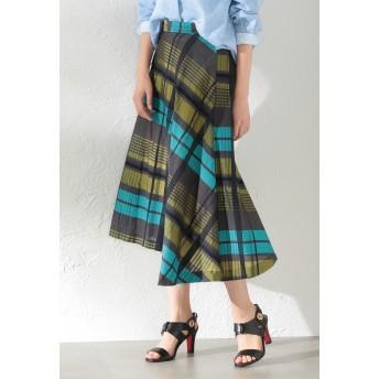 LOVELESS 【LOVELESS】WOMEN シアーチェックスカート その他 スカート,イエロー