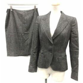 【中古】マックスマーラ MAX MARA スーツ セットアップ 上下 ジャケット スカート J38 グレー /TK レディース