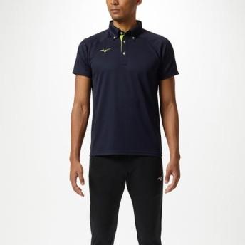 MIZUNO SHOP [ミズノ公式オンラインショップ] ポロシャツ[ユニセックス] 14 ディープネイビー×ライムグリーン 32MA9180