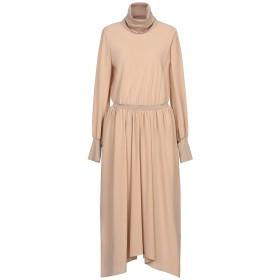 《セール開催中》AGNONA レディース 7分丈ワンピース・ドレス サンド 42 シルク 100% / ウール / カシミヤ