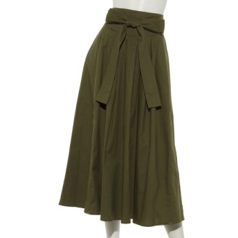 50%OFF Ingenu Ange (アンジェニューアンジュ) ウエストリボンギャザースカート カーキ