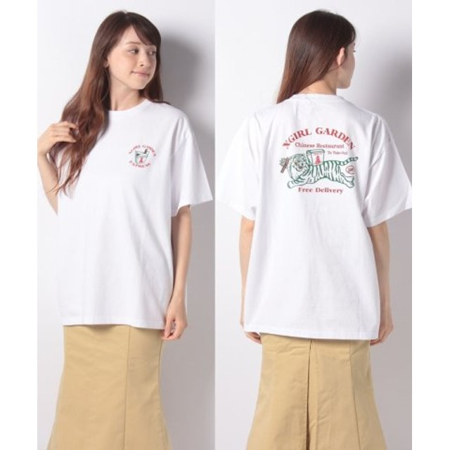 (X-girl/エックスガール)DELIVERY S/S MENS TEE/レディース ホワイト