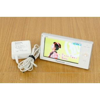 【中古】Panasonicパナソニック ワンセグチューナー搭載ポータブルワンセグテレビ ビエラ・ワンセグ SV-MC55-W 4.3V型
