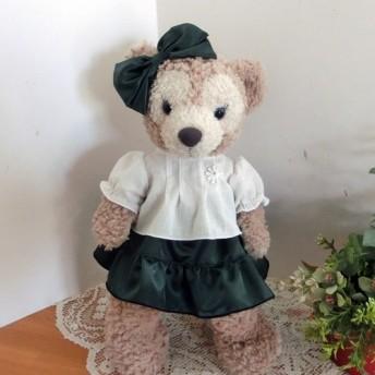 シェリーメイ 深緑サテンスカート&ブラウスセット