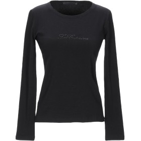 《期間限定セール開催中!》LES COPAINS レディース T シャツ ブラック 40 コットン 90% / ポリウレタン 10%