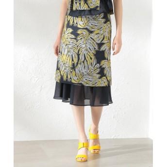 ラブレス WOMEN Creative line リーフジャカードスカート レディース ネイビー1 36 【LOVELESS】