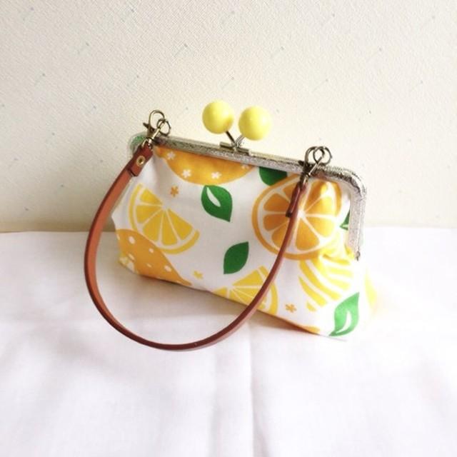 レモン花柄がま口