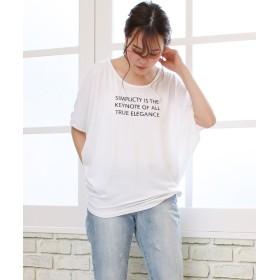 ソーシャルガールワイドスリーブドルマンTシャツレディースホワイト系4L【SocialGIRL】