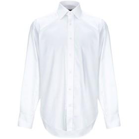 《期間限定 セール開催中》UNGARO メンズ シャツ ホワイト 38 コットン 97% / ポリウレタン 3%