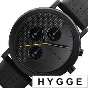 43585d96b4 ヒュッゲ 腕時計 HYGGE 時計 ヒュッゲ 時計 HYGGE 腕時計 2204 メンズ レディース ブラック HGE020003 正規品 人気  ブランド 防水 ギフト 通販 LINEポイント ...