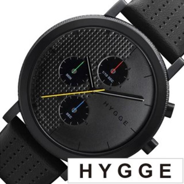 1b744fa895 ヒュッゲ 腕時計 HYGGE 時計 ヒュッゲ 時計 HYGGE 腕時計 2204 メンズ レディース ブラック HGE020003 正規品 人気