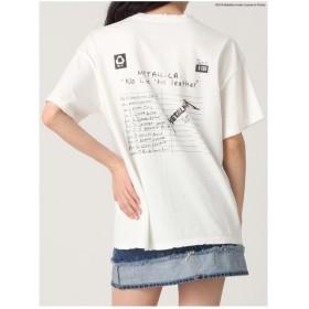 EVRIS METALLICABACKロゴTシャツ オフホワイト