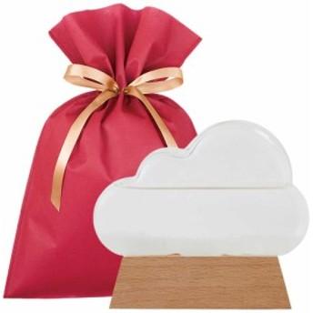 【送料込】ストームグラス クラウド ギフトセット【L】 雲 モチーフ インテリア オブジェ クリスタル 置物 天気予報