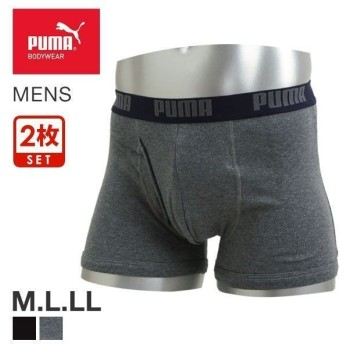 (プーマ)PUMA ボクサーパンツ メンズ 前あき 2枚組 綿100% フライス セット M L LL