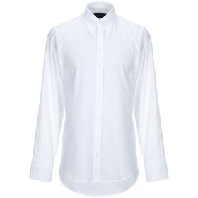 《期間限定セール開催中!》DSQUARED2 メンズ シャツ ホワイト 46 コットン 100%