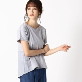 [マルイ] バック切替 ストライプTシャツ〔ONIGIRI〕/コムサイズムレデイス(COMME CA ISM)