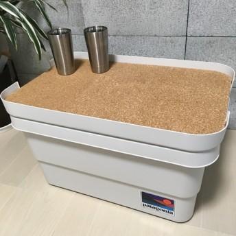 無印良品 頑丈収納ボックス・大☆天板☆材質:osb合板 コルク