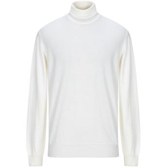 《セール開催中》GAZZARRINI メンズ タートルネック アイボリー XL ウール 100%