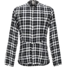 《期間限定セール開催中!》DNL メンズ シャツ ブラック 39 コットン 99% / ポリウレタン 1%