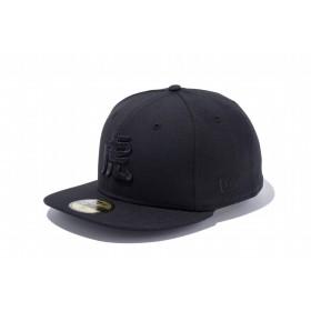 【ニューエラ公式】 ストア限定 59FIFTY 阪神タイガース 漢字 虎 ブラック × ブラック メンズ レディース 7 (55.8cm) NPB キャップ 帽子 11136361 NEW ERA