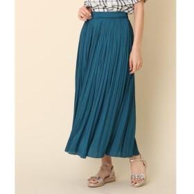 Couture Brooch / クチュールブローチ ◆【洗える】サテン消しプリーツスカート