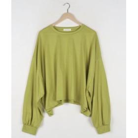 (3rd Spring/サードスプリング)MERONGSHOP(メロンショップ)ゆる落ちパフスリーブTシャツ-/レディース グリーン