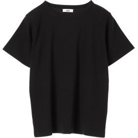 【オンワード】 koe(コエ) テレコ半袖Tシャツ Black F レディース 【送料無料】