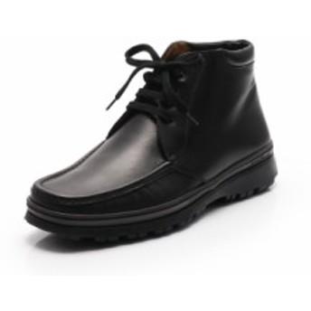 【中古】サルヴァトーレフェラガモ Salvatore Ferragamo ブーツ 黒 7.5 シューズ 25.5cm レザー メンズ