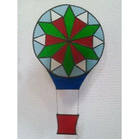 セール品 気球 ステンドグラス