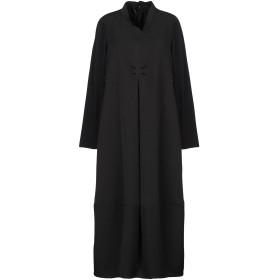 《セール開催中》CORINNA CAON レディース 7分丈ワンピース・ドレス ブラック XS コットン 95% / ポリウレタン 5%