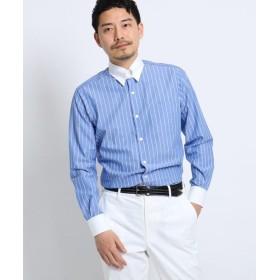 【46%OFF】 タケオキクチ 立絣縞レギュラーカラーシャツ[メンズ シャツ ビジネス 日本製] メンズ ライトブルー(391) 04(LL) 【TAKEO KIKUCHI】 【タイムセール開催中】