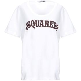 《セール開催中》DSQUARED2 レディース T シャツ ホワイト L コットン 100%